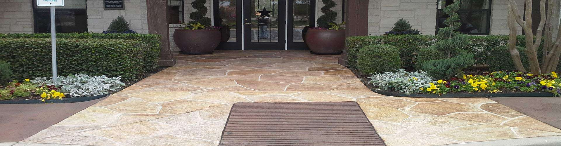 Commercial Entries Limestone Overlay