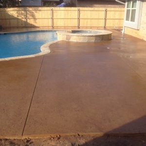 Stained pool deck Rockwall TX