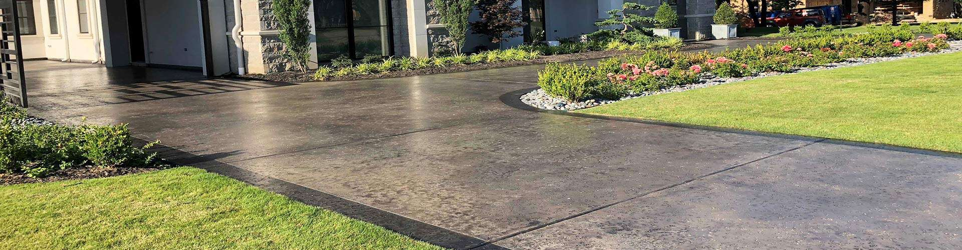 Residential Acid Stained Driveway