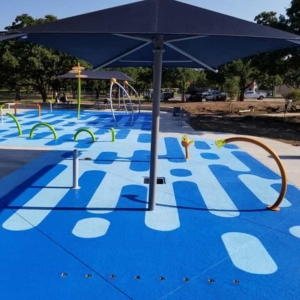 commercial pool deck resurfaced with classic texture