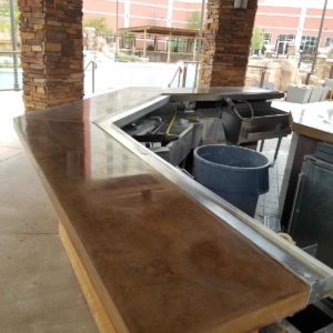 concrete stain results at Windstar Casino OK