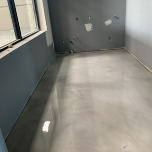 epoxy coating used in commercial entryway