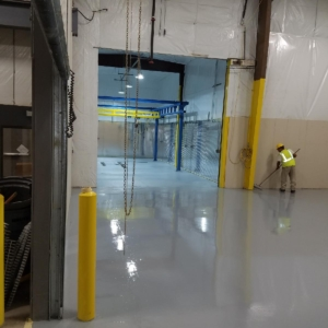 epoxy flooring used to resurface manufacturing facility
