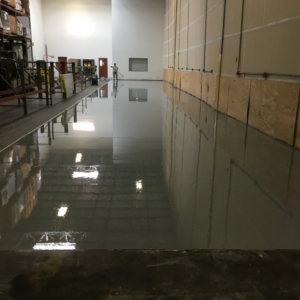 industrial distribution warehouse with epoxy flooring