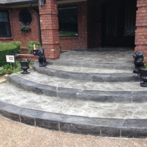 limestone overlay on residential porch