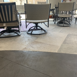 limestone overlays beautify commercial entryway
