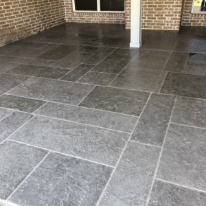 limestone overlays for restoring residential porch