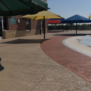 our classic texture on commercial pooldeck