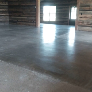 polished concrete used in commercial entryway