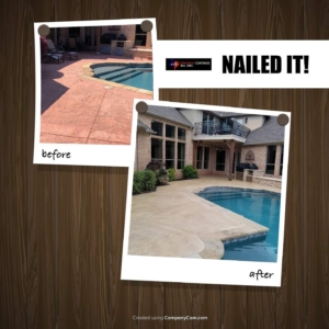 results from residential pool deck stain rehab