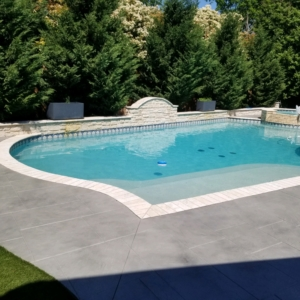 stain rehab after image on home pool deck