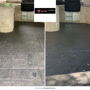 stain rehab on residential patio
