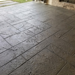 stamped overlay residential patio