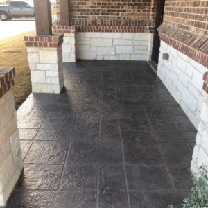 stamped overlay restored residential patio