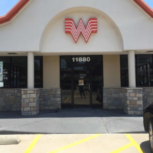 suncoat coating applied to whataburger entryway