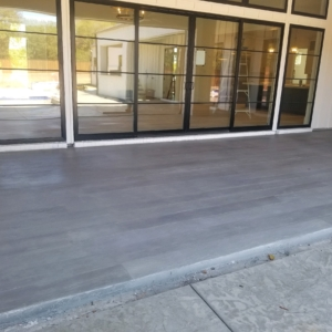 tuscan coating on residential patio